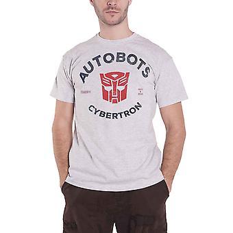 Transformers T Shirt Autobots Cybertron logo new Official Mens Grey
