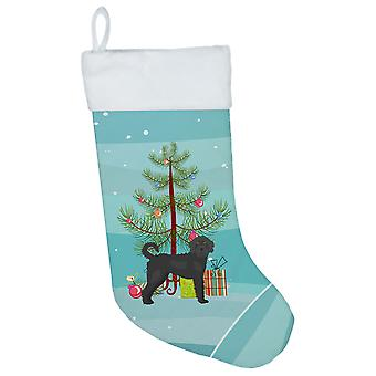 Black Labradoodle Christmas Tree Christmas Stocking