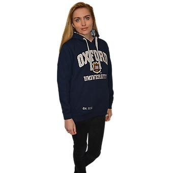 Ou129 licensed unisex oxford university™ hooded sweatshirt navy/grey