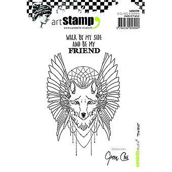 Carabelle студия «волк; Английский» цепляться за штамп, белый/прозрачный, A6