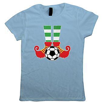 Pernas de Elfo de Futebol, Camiseta feminina - Presente de Natal sua mãe