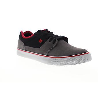 DC Tonik  Mens Gray Black Suede Lace Up Athletic Skate Shoes