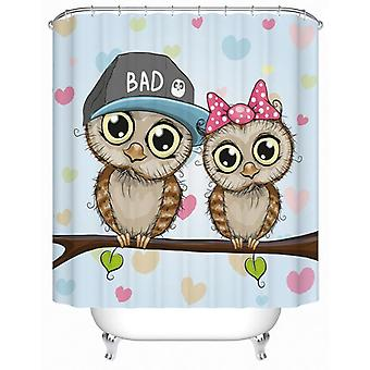 Cute Owls Couple Shower Curtain