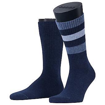 Esprit Color Block rib 2-pakning sokker-Navy melange