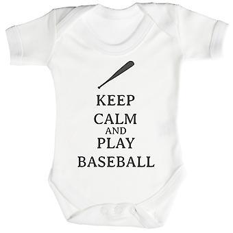 Calma juego béisbol bebé mono / Pelele