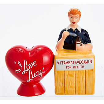Kurt Adler I Love Lucy Heart Vitameatavegamin magnetische Salt and Pepper Shakers