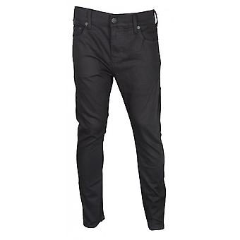 True Religion Rocco Relaxed Skinny Stretch Rinse Black Jeans