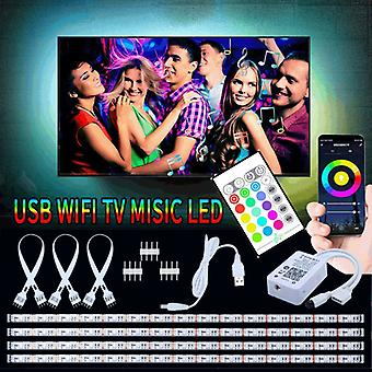 LED loop for TV Google/Wifi + Remote Control + Sound Control