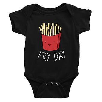 365 Printing Fry Day Baby Bodysuit Gift Black Infant Jumpsuit Baby Shower Gift