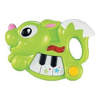 Baby Piano Bunny Green Music Toy z 8 różnymi melodiami z 18 miesięcy