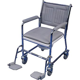 Aidapt - chaise de toilette - mobile - repose-pieds mèt