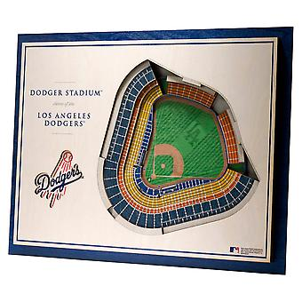 YouTheFan Wood Wall Deco Stadium Los Angeles Dodgers 43x33cm