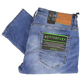 883 Police Moriarty Distressed Light Wash Jeans
