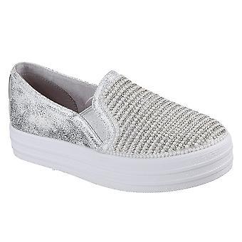 Skechers الفتيات مزدوجة حتى -- أحذية راقصة لامعة