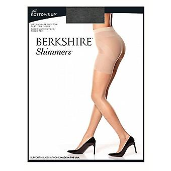 Berkshire Shimmers The Bottom's Up Pantyhose, Black, 1, Black, Size 1.0