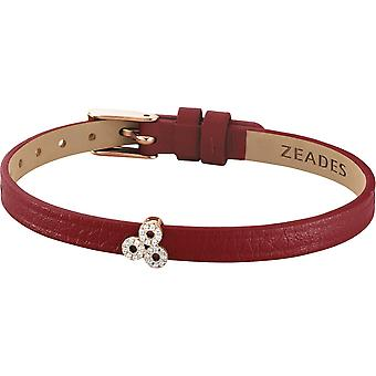 Zeades Sbc01071 bracelet - Bracelet Rose Gold Leather Crystal woman
