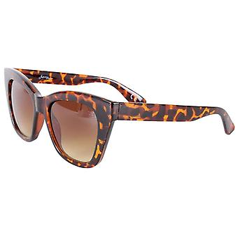 Jeepers Peepers Cat Eye Sunglasses - Brown Tort