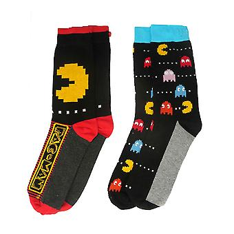 Men's Pac-Man Assorted Socks (2 Pairs)  - ONE SIZE