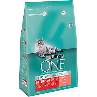 Purina One Sterilized Salmon (Cats , Cat Food , Dry Food)