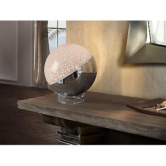 Schuller Sphere - Table lamp of 1 LED light.Spherical shade of 0 cm. of polycarbonate with texturized interior and metal in chrome finish. Base formed by a methacrylate ring.  9.6 W LED. 3,000 K.  672 lm. - 794528