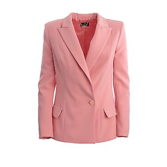 Elisabetta Franchi Gi93701e2v78 Kvinder's Pink Nylon Blazer