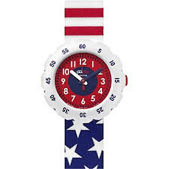 Flik Flak Watches Fpsp028 Stars And Stripes Textile Watch