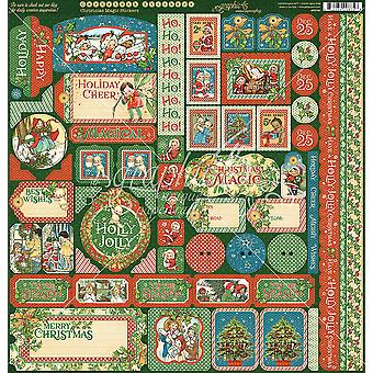 Christmas Magic Cardstock Stickers 12