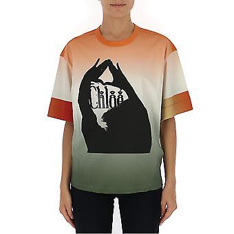 Chloé Chc19ajh432889o1 Women's Multicolor Cotton T-shirt
