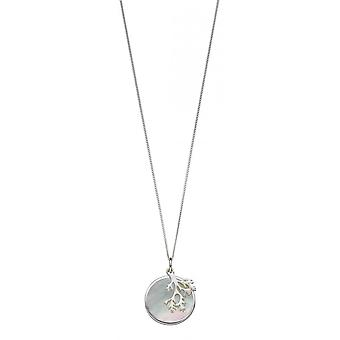 Joshua James Radiance Silver & Mother Of Pearl Coral Pendant