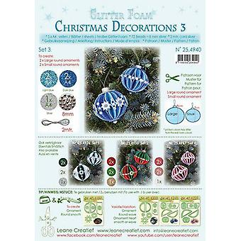 Leane Creatief Glitter Foam Christmas Decorations A4 Set 3