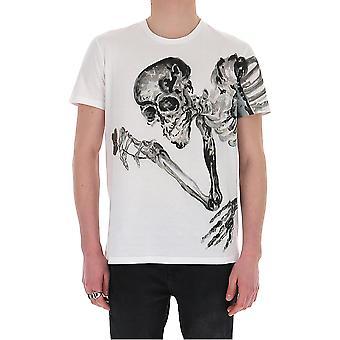 Alexander Mcqueen 609587qoza80900 Män's White Cotton T-shirt