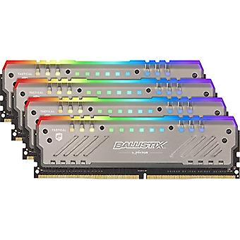 حاسم Ballistix التكتيكية المقتك BLT4K8G4D26BFT4K مجموعة ألعاب الذاكرة لأجهزة الكمبيوتر الثابتة، RGB، 2666 ميغاهرتز، DDR4، DRAM، 32 غيغابايت (8 غيغابايت × 4)، CL16