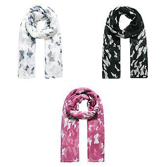 Jewelcity Dames/Dames Vlinder Print Sjaal