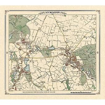 Accrington 1849 Map (Heritage Cartography Victorian Town Map Series)