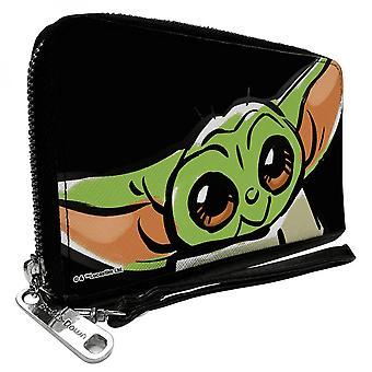 The Mandalorian Baby Yoda Zip Around Women's Wallet