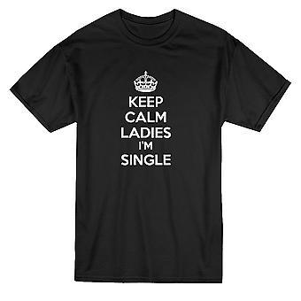 Сохранить спокойствие я сингл дамы цитата Мужская футболка