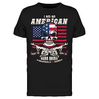 I Am An American, Bear Arms Tee Men's -Bild av Shutterstock Men's T-shirt