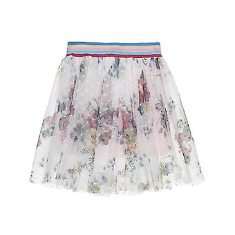 Alouette Girls' Floral Skirt With Floral Tulle