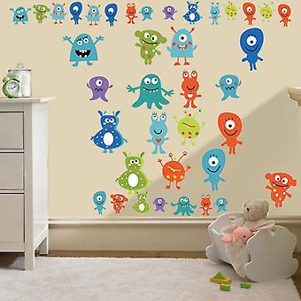 Ready Steady Bed Mosters Aliens Imprimer Autocollants mur amovibles et repositionnables D cor Decal Art