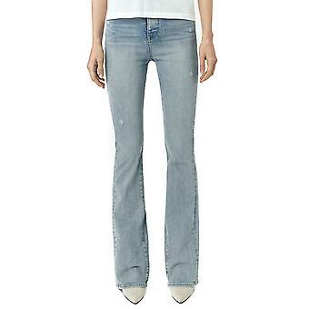 Amiri Y0w01409sdsto Women's Light Blue Cotton Jeans