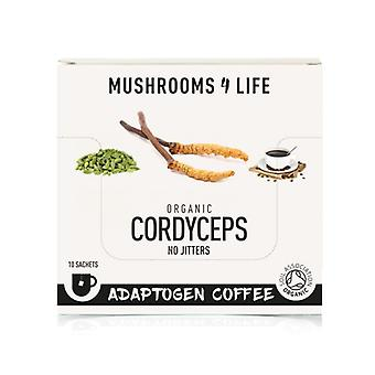 Mushrooms4Life Organiczne Cordyceps Adaptogen Saszetki do kawy 10 (ML0081)