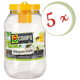 Sparset: 5 x COMPO wasp trap, 1 piece