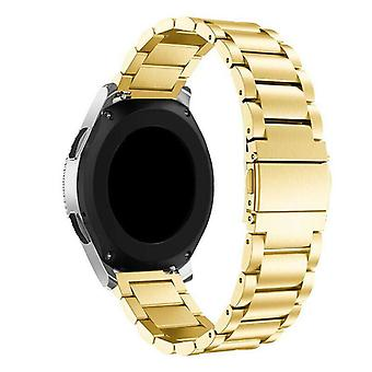 Pour Samsung Galaxy Watch Active Band 42 46mm Strap en acier inoxydable[42 mm,Gold]