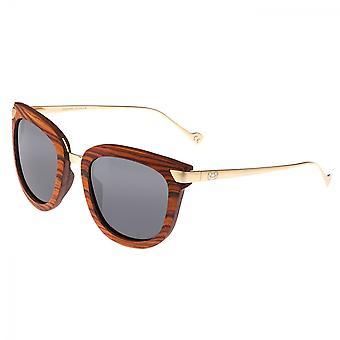 Earth Wood Nissi Polarized Sunglasses - Mahogany/Black