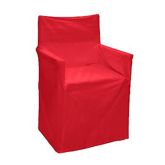 Outdoor Solid Director Chair Cover Std Red