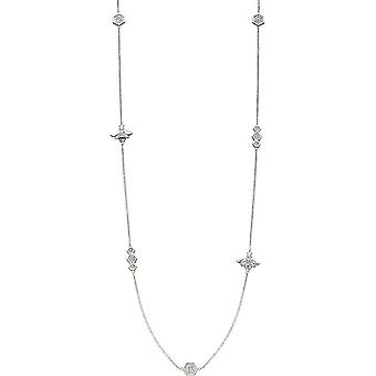 Elements Silver Bee Station Necklace - Silver
