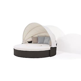 Polyrattan Sonneninsel Big Moon - anthrazit