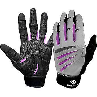 Bionic vrouwen Cross-Training volledige vinger Fitness handschoenen - grijs/zwart/paars