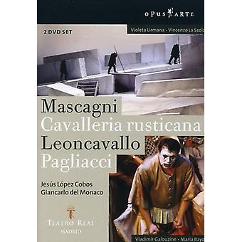 Mascagni/Leoncavallo - Mascagni: Cavalleria Rusticana; Leoncavallo: Pagliacci [DVD Video] [DVD] USA import