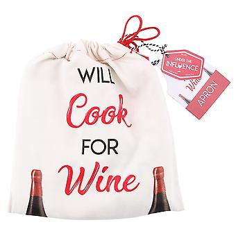 CGB Giftware Will Cook For Wine Apron